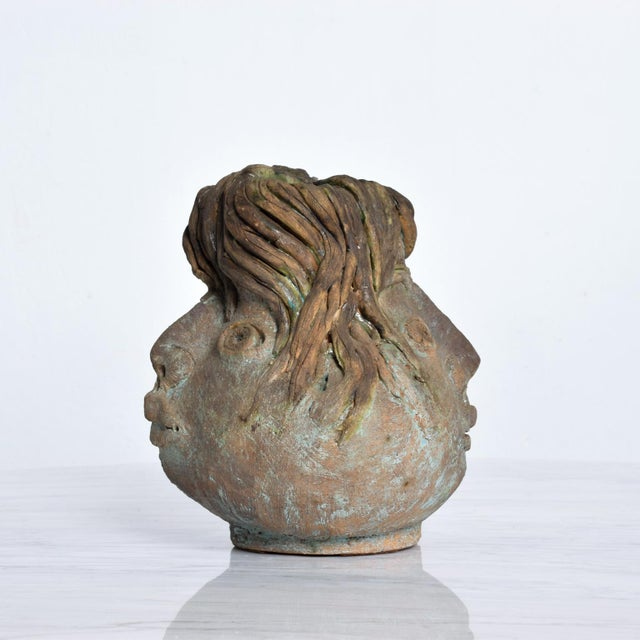 Pablo Picasso Brutalist Mid-Century Modern Pottery Vase Picasso Attr. For Sale - Image 4 of 10
