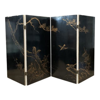 Late 20th Century Asian Lacquered Screen