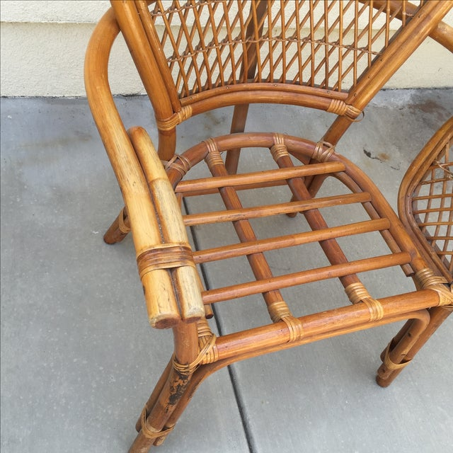 Vintage Rattan Bamboo Chair - Image 7 of 11