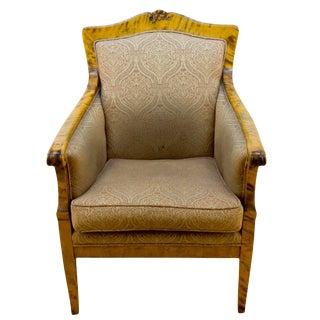 Nordic Birch Biedermeier Armchair For Sale