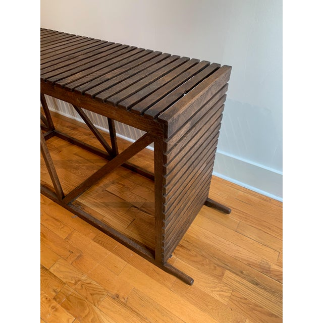 "Rustic ""Museum Crate"" Console Table For Sale - Image 11 of 12"