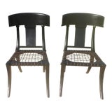 Image of Klismos Ebony Chairs- A Pair For Sale
