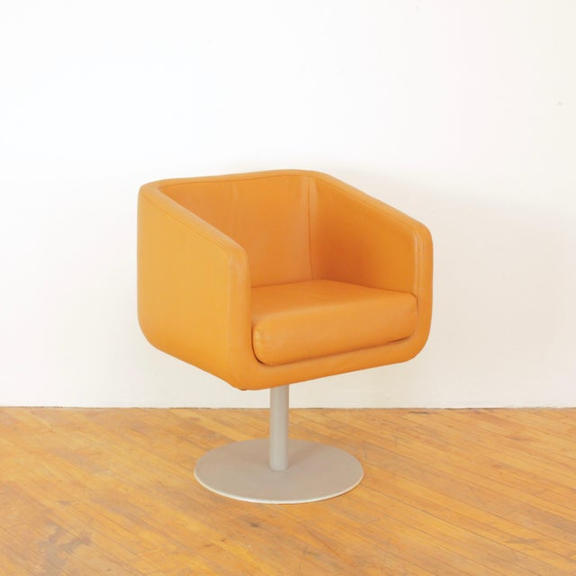 Mid-Century Modern Late 20th Century Loewenstein Cube Swivel Chairs - a Pair For Sale - Image 3 of 11