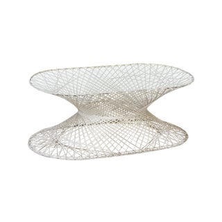 Oval Spun Fiberglass Coffee Table For Sale