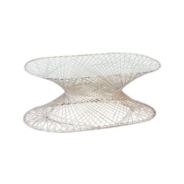 Oval Spun Fiberglass Coffee Table For Sale