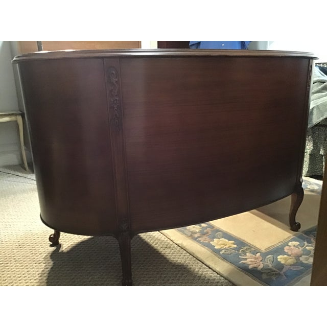 19th Century Style Walnut Burl Kidney Desk/Vanity For Sale - Image 4 of 13