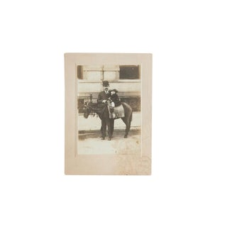Antique Photograph of Child on Horse For Sale