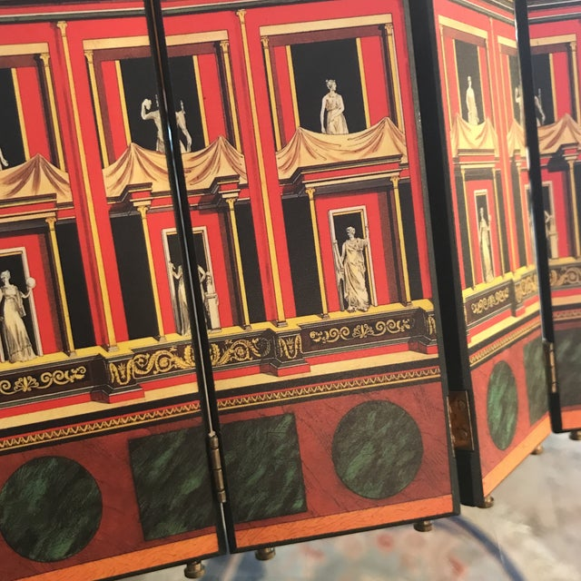 Italian Fornasetti Miniature Decorative Screen For Sale - Image 3 of 9