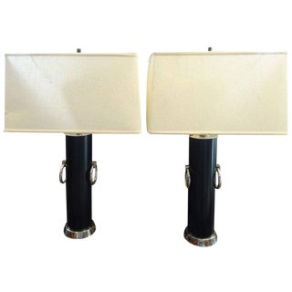 Hollywood Regency Lamps - A Pair