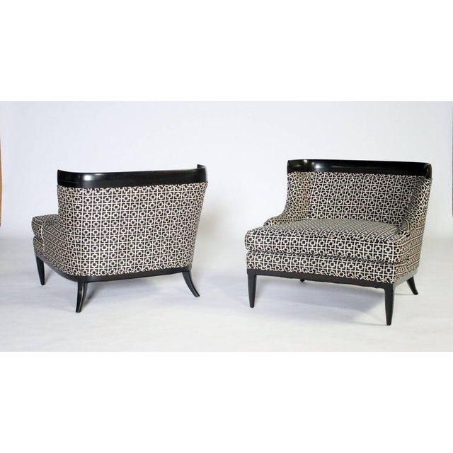 Tomlinson / Erwin - Lambeth Pair of Slipper Chairs by Erwin Lambeth For Sale - Image 4 of 7