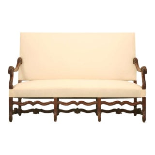 Circa 1890 French Walnut Louis XIV Sofa For Sale
