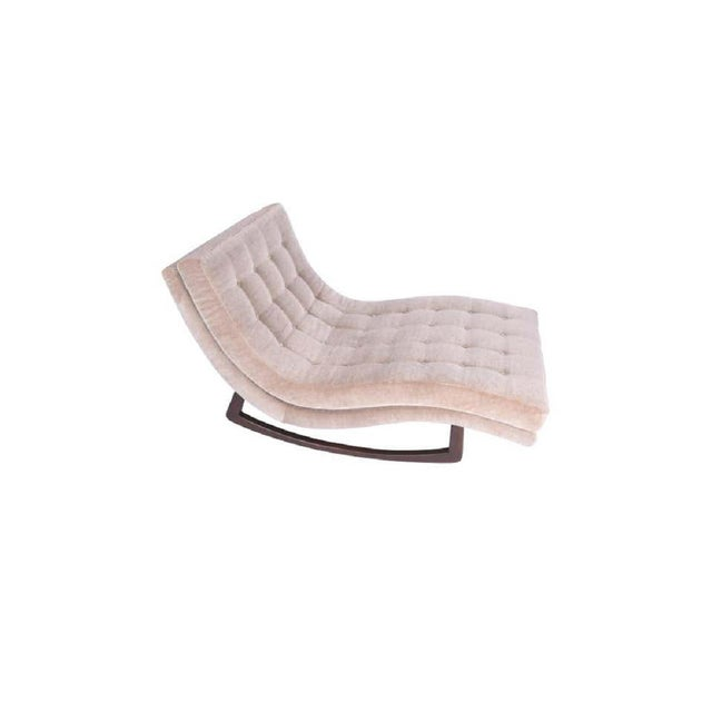 Adrian Pearsall Adrian Pearsall Rocking Chaise Lounge With Walnut Base For Sale - Image 4 of 6