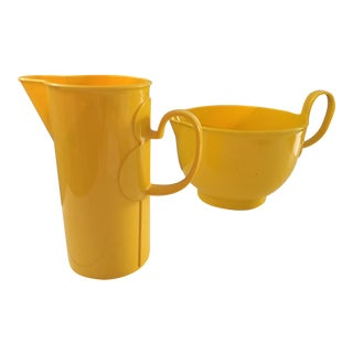 Dansk Mid Century Modern Pitcher and Mixing Bowl - a Pair