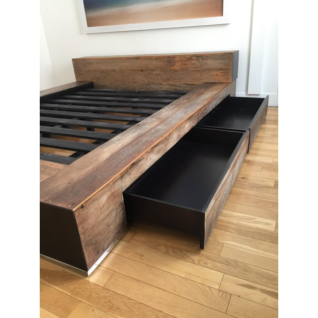 Environment Furniture Reclaimed Wood Edge Bed - Image 3 of 4