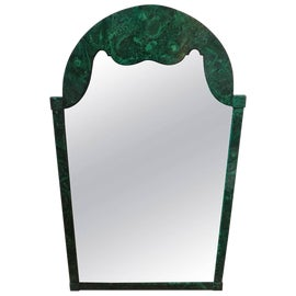 Image of Green Mantel and Fireplace Mirrors