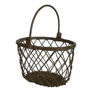 Brass Wire Basket For Sale
