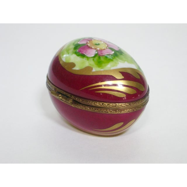 Vintage Limoges France Hand Painted Egg Box - Image 2 of 6