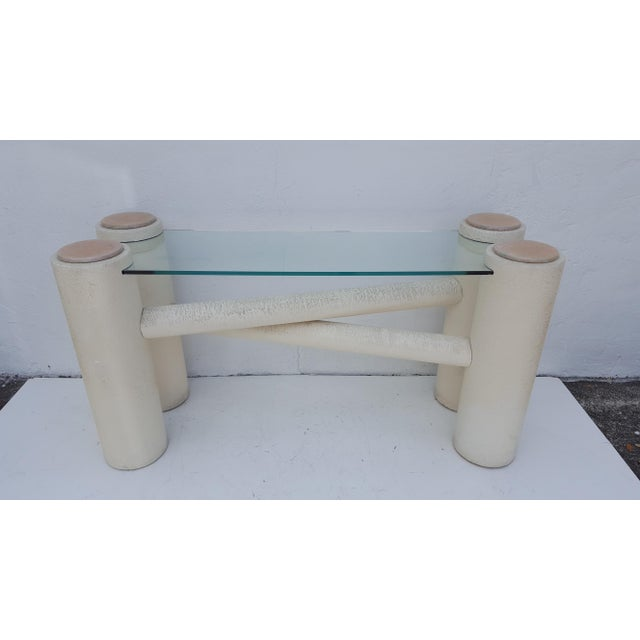 Vintage Sculptural -X- Form Base Console Table For Sale - Image 9 of 9