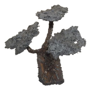 Modern Hand Made Welding Rod & Slag Bonsai Tree Sculpture For Sale
