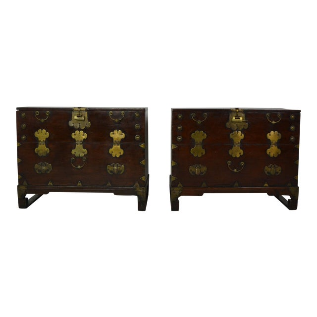 1920s Asian Nightstands-a Pair For Sale