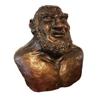 Strong Man Hercules Sculpture Bust For Sale