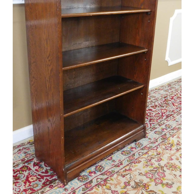 Antique 1920's Art-Nouveau Oak Bookcase - Image 7 of 7