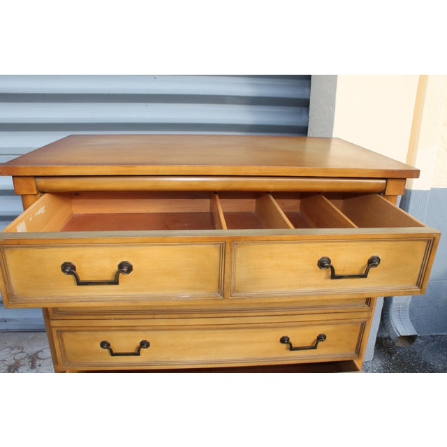 Brown Mid-Century Italian Provincial 12 Drawer Dresser For Sale - Image 8 of 11