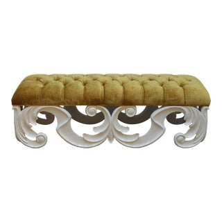 Christopher Guy Tufted Bench For Sale