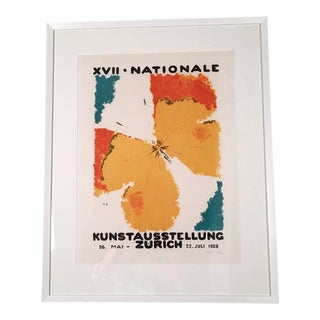Framed Zurich Art Exhibition Poster After Augusto Giacometti For Sale