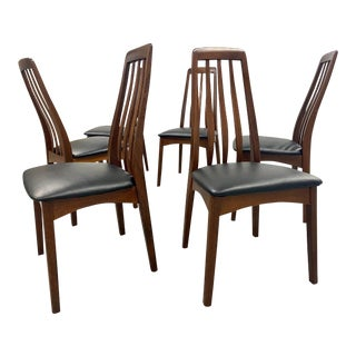 Restored Mid Century Danish Modern Teak Dining Chairs - Set of 8 For Sale
