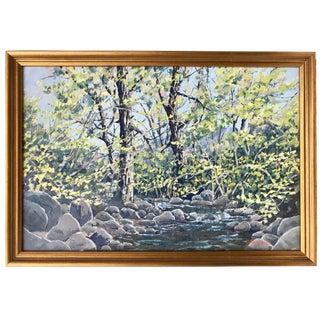 Vintage Landscape Oil Painting by Longmore For Sale