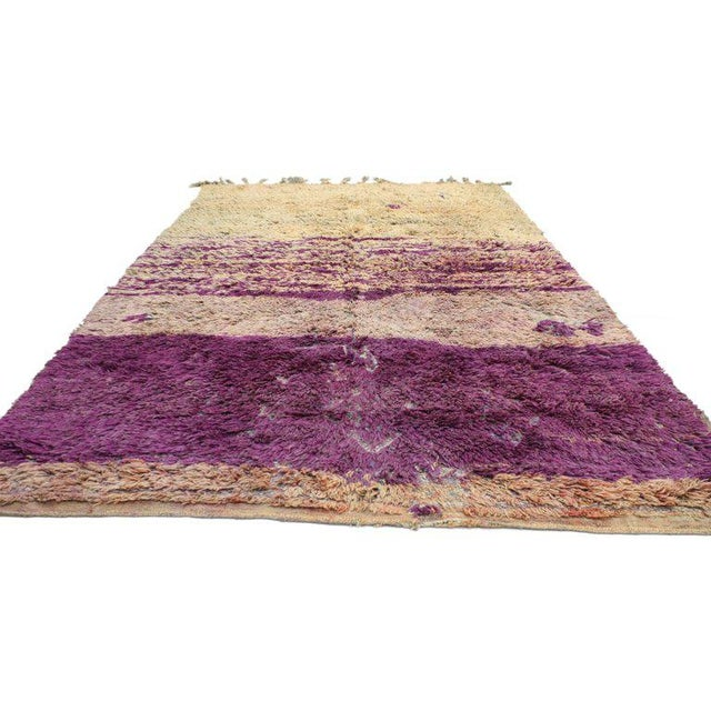 Tribal Vintage Berber Moroccan Rug With Postmodern Memphis Style - 05'10 X 10'02 For Sale - Image 3 of 12