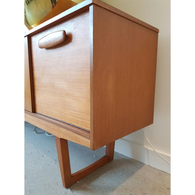 Mid Century Modern Danish Clear Cherrywood Buffet, Credenza, 1960s For Sale In Boston - Image 6 of 9