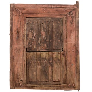 18th Century Spanish Wood and Iron Split-Door For Sale