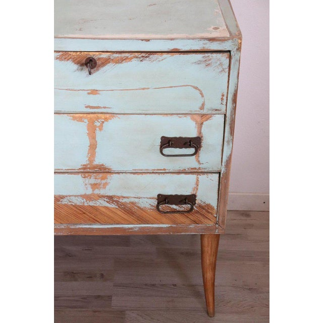 20th Century Italian Vintage Design Lacquered Commode or Chest With Frame For Sale - Image 9 of 13