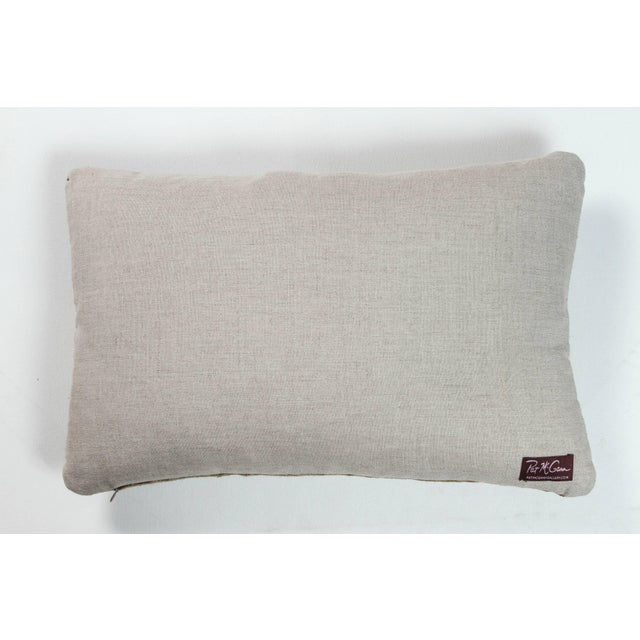 Indian Handwoven Lumbar Pillow Bauhaus Green For Sale - Image 4 of 5