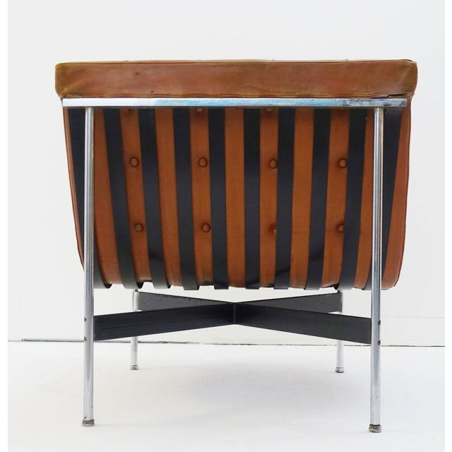 Mid-Century Modern Pair of Two Armchairs by William Katavolos for Icf Milano, 1990 Italy For Sale - Image 3 of 8