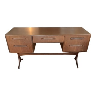 Mid-Century Chestnut Wooden Console Side Table For Sale
