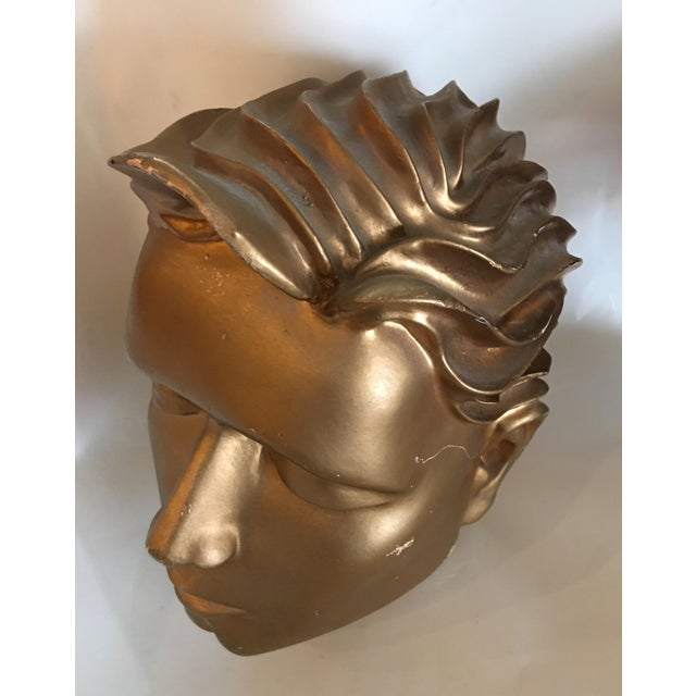 Vintage Fiberglass Man Mannequin Head For Sale - Image 9 of 13