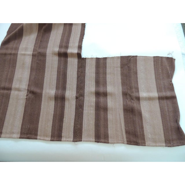 Vintage Brown and Camel Woven Textile For Sale - Image 4 of 6