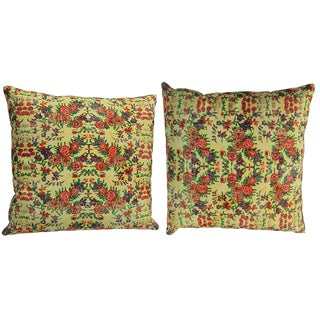 Persian Decorative Accent Pillows - a Pair, 17ʺW × 17ʺH For Sale