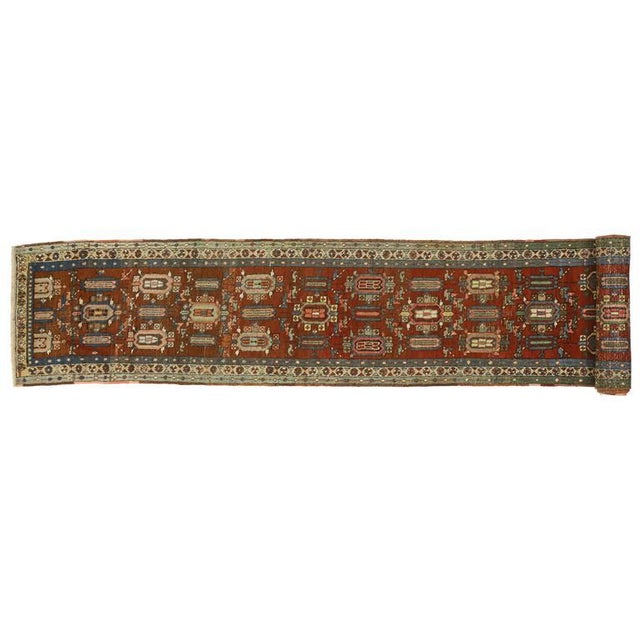 Distressed Antique Persian Heriz Runner - 02'05 X 17'03 For Sale - Image 4 of 9
