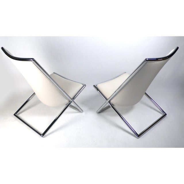 Modern Scissor Lounge Chairs by Ward Bennett For Sale - Image 3 of 9
