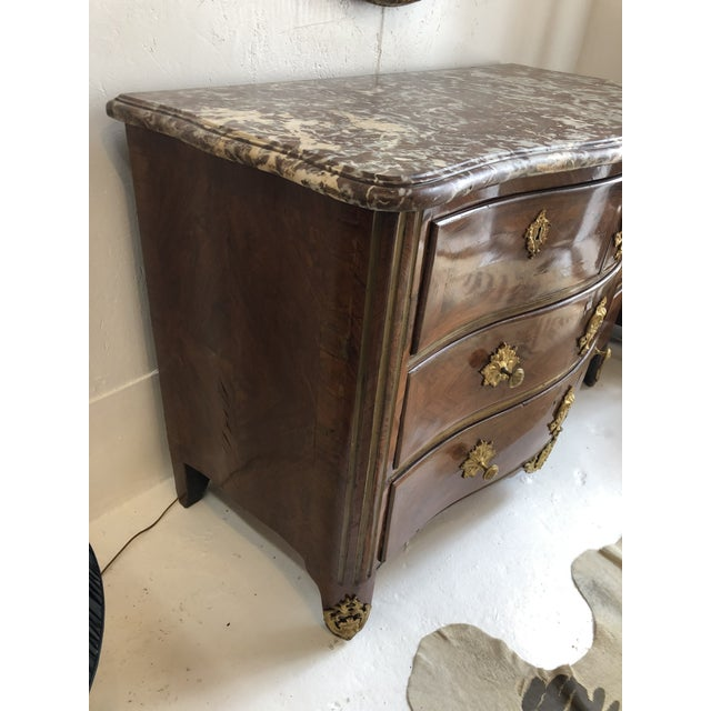 Brown Early 18th Century French Commode With Original Marble Top For Sale - Image 8 of 13