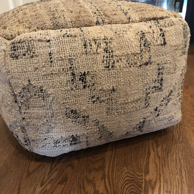 Astonishing Neutral Jute And Kilim Pouf Gmtry Best Dining Table And Chair Ideas Images Gmtryco