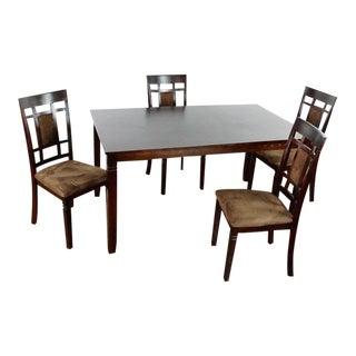 Contemporary Modern Wooden Dining Set