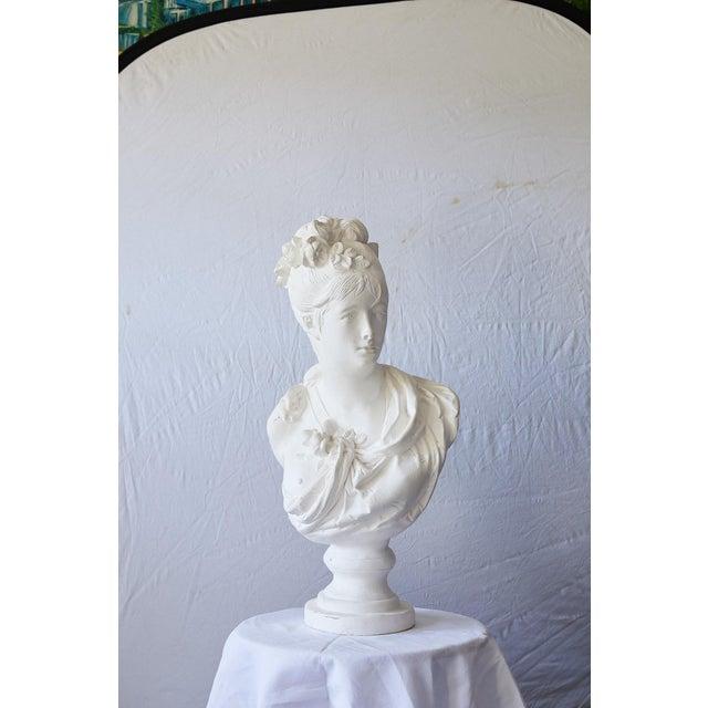 Elegant Hollywood Regency Large Plaster Bust For Sale - Image 4 of 13