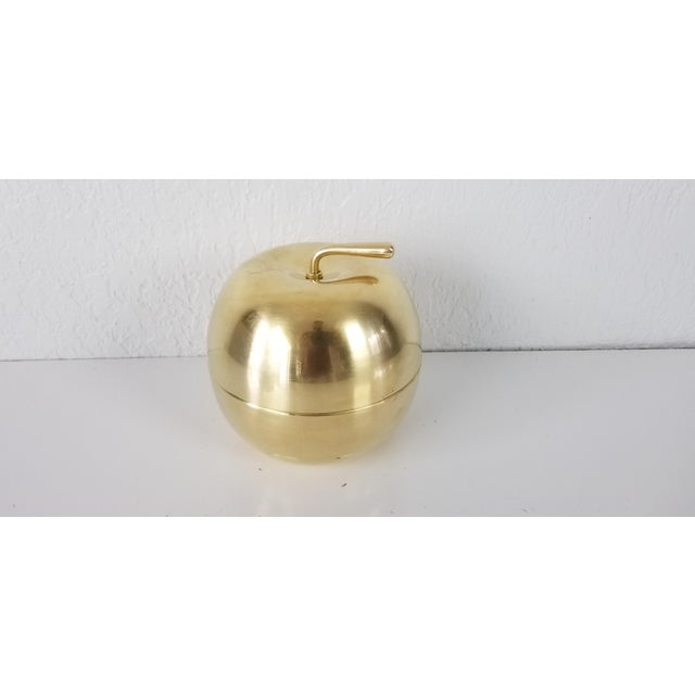 Gold Vintage Solid Brass Apple Box - a Pair For Sale - Image 8 of 10