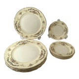 Image of Vintage Edwin Knowels China Dinner Plates and Dessert Plates - Set of 12 For Sale