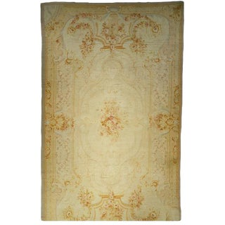 Antique Aubusson Carpet For Sale